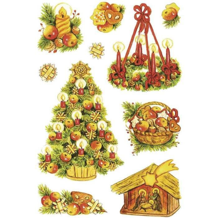 Autocollant de noel decor symboles de noel achat for Achat decoration de noel
