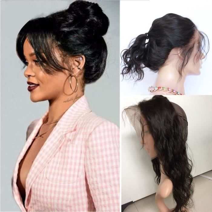 1 piece 360 lace frontal closure evec bonnet perruque Bresilienne 100%  cheveux naturel 20 Pouces body wave