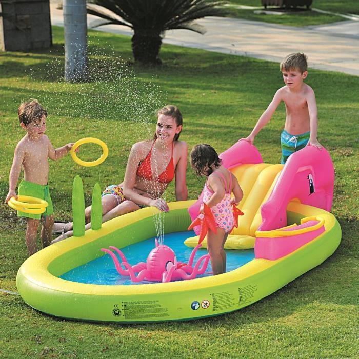 Piscine gonflable pour enfants sea animal play pool achat vente pataugeoi - Piscine gonflable cdiscount ...