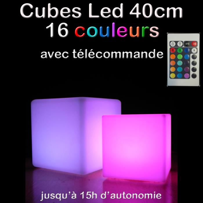 Cube Lumineux Cm  Achat  Vente Dcoration Lumineuse Cube
