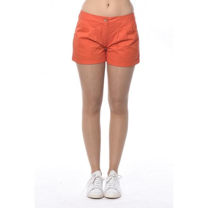 SHORT FEMME SPIRIT Orange Orange - Achat