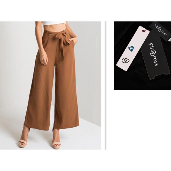 Pantalon femme casual chic noir Jamanah Neuf