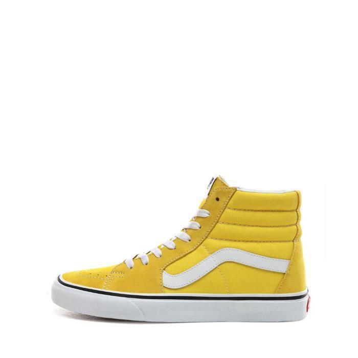 vans sk8 hi jaune femme