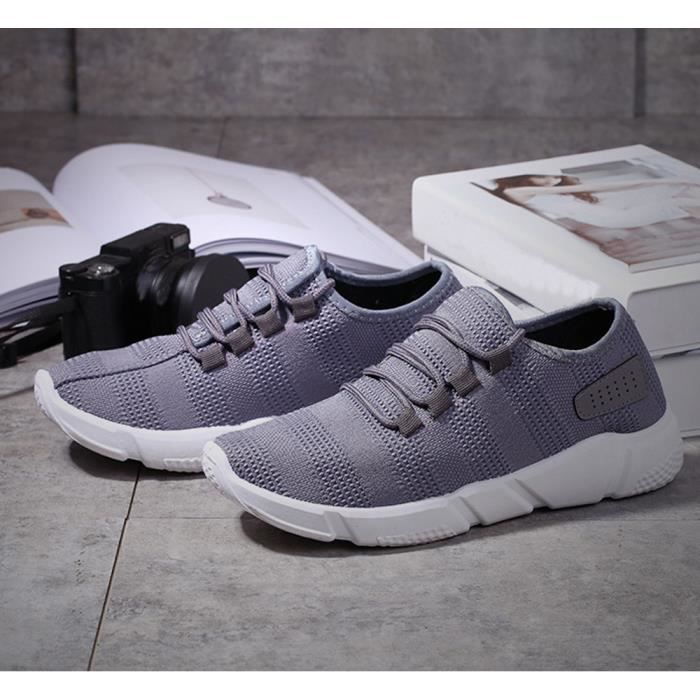 Chaussures Mode Hommes Casual Solides Baskets Chaussures gris Running Sports dTTwxr