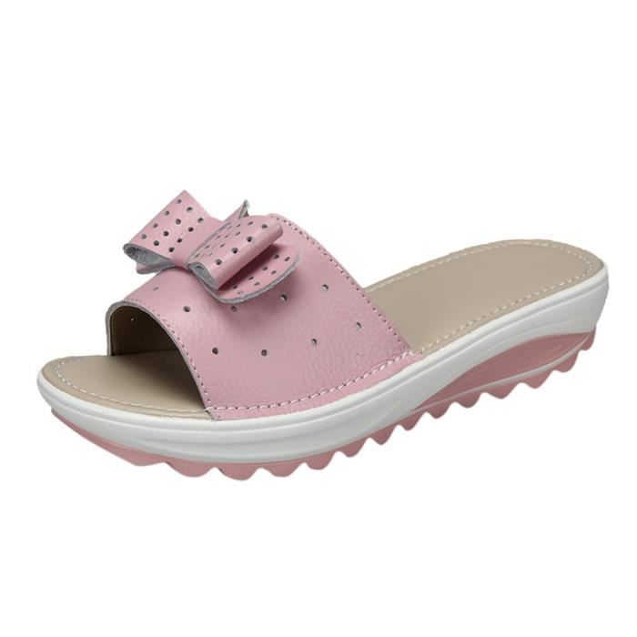 Été Femmes Chaussons Casual Mode respirante Flats Gros Bas Chaussures de plage_-2324