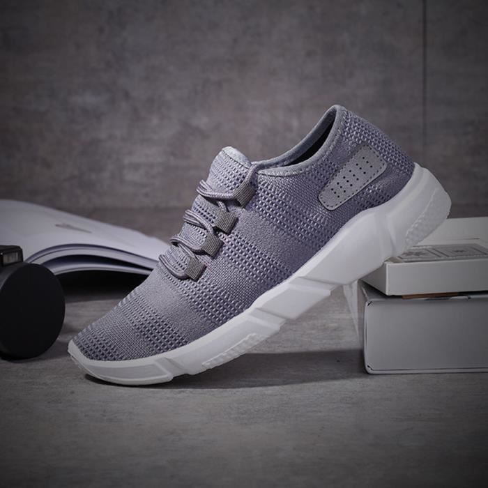 Chaussures Baskets Hommes Sports Chaussures Casual Solides gris Mode Running wgzYZqq