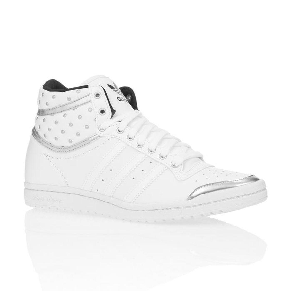 ADIDAS ORIGINALS Baskets Top Ten Hi Sleek Up Femme Blanc
