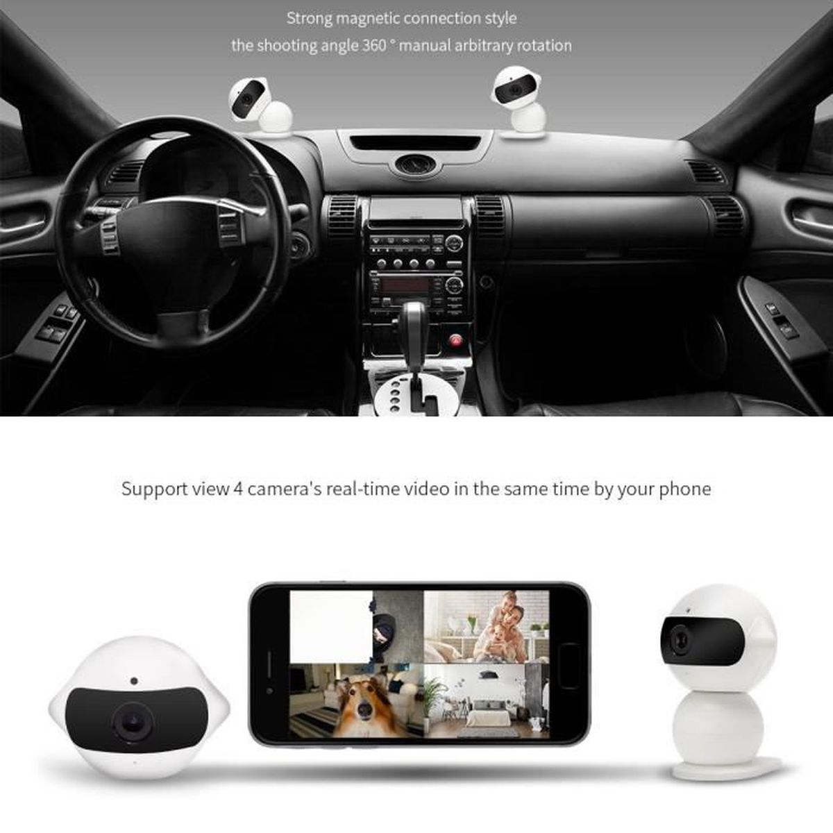camera de surveillance voiture. Black Bedroom Furniture Sets. Home Design Ideas