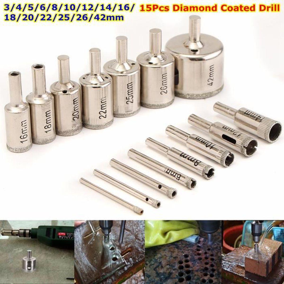 90 Mm Diamant Trou Scie Core Drill Bits avec pilote pour Carrelage Marbre Céramique