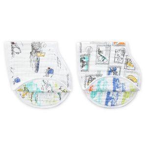 Aden Anais Disney Baby Classic BURPY BIB 2 Pack Winnie l/'ourson Coton BN
