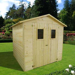 ABRI JARDIN - CHALET Abri de jardin en bois FSC brut - 16mm - 5,30m2