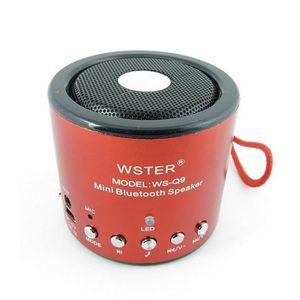 ENCEINTE NOMADE Mini enceinte, haut-parleur rouge, bluetooth, radi