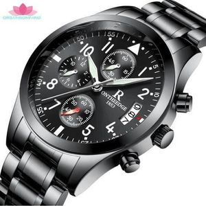 MONTRE Montres Hommes Sports Business Waterproof Multi-fo