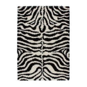 tapis shaggy noir et blanc achat vente tapis shaggy. Black Bedroom Furniture Sets. Home Design Ideas