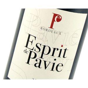 VIN ROUGE Esprit de Pavie - Bordeaux 2014 6 x Bouteille (75