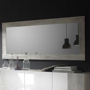 Miroir mural contemporain couleur pin blanc design ROME ...