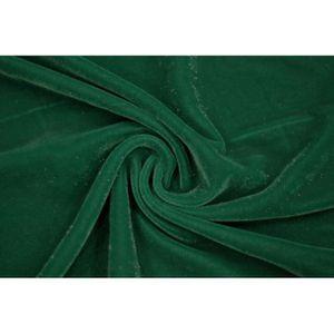 TISSU Tissu Velours Velvet Brillant Vert -Coupon de 3 mè