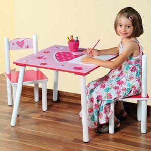 TABLE ET CHAISE Table et deux chaises pour chambre d'enfants - …
