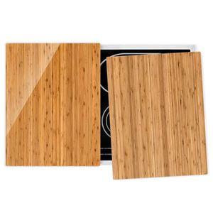 PLAQUE INDUCTION Couvre plaque de cuisson - Bamboo - 52x80cm, prote