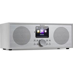 RADIO CD CASSETTE auna Silver Star Radio Internet stéréo avec tuner