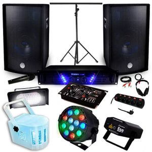 pack sono dj complet avec jeu de lumiere achat vente pack sono dj complet avec jeu de. Black Bedroom Furniture Sets. Home Design Ideas