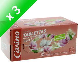 LESSIVE Lessive en tablettes - 32 tablettes - Fleurs print