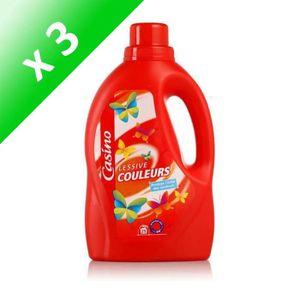 LESSIVE CASINO Lessive Liquide Couleurs 1.5l (Lot de 3)