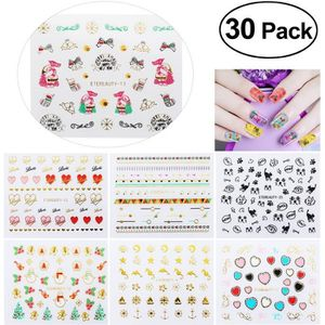 STICKERS - STRASS TINKSKY 100pcs Autocollant Stickers Ongles Nail Ar