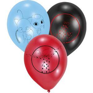 BALLON DÉCORATIF  6 Ballons en latex Ladybug 22,8 cm