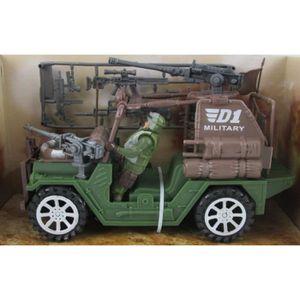 VOITURE - CAMION Jeep militaire avec figurines de l'armée