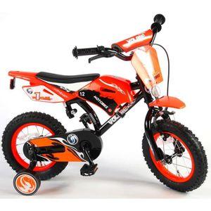 VÉLO ENFANT Vélo Enfants Garçon 12 Pouces Motobike Frein Avant
