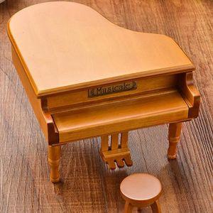 BOITE À MUSIQUE TEMPSA Boite À Musique en Bois Forme de Piano Pour