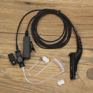 CASQUE - ÉCOUTEURS PTT Mic Ecouteur Casque pour Motorola Portable Rad