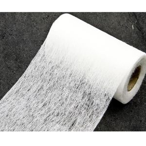 TULLE - NOEUD - RUBAN Rouleau en tissus non tissé coloris blanc - 10 cm