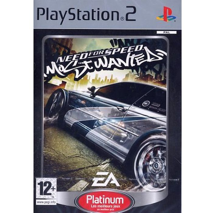 need for speed most wanted jeu console ps2 plati achat vente jeu ps2 need for speed most. Black Bedroom Furniture Sets. Home Design Ideas