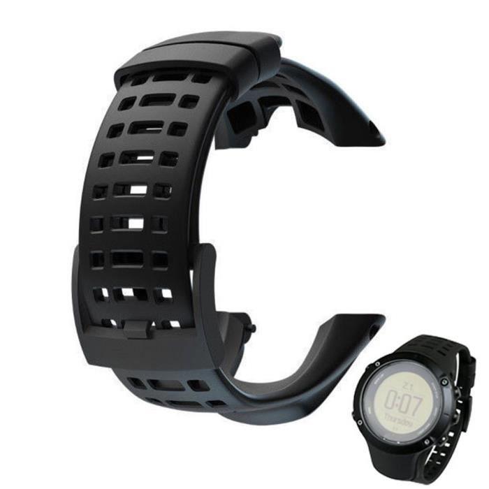 Bracelet en caoutchouc de remplacement de montre de luxe pour Suunto Ambit 3 Peak - Ambit 2 @dwudgfe2918