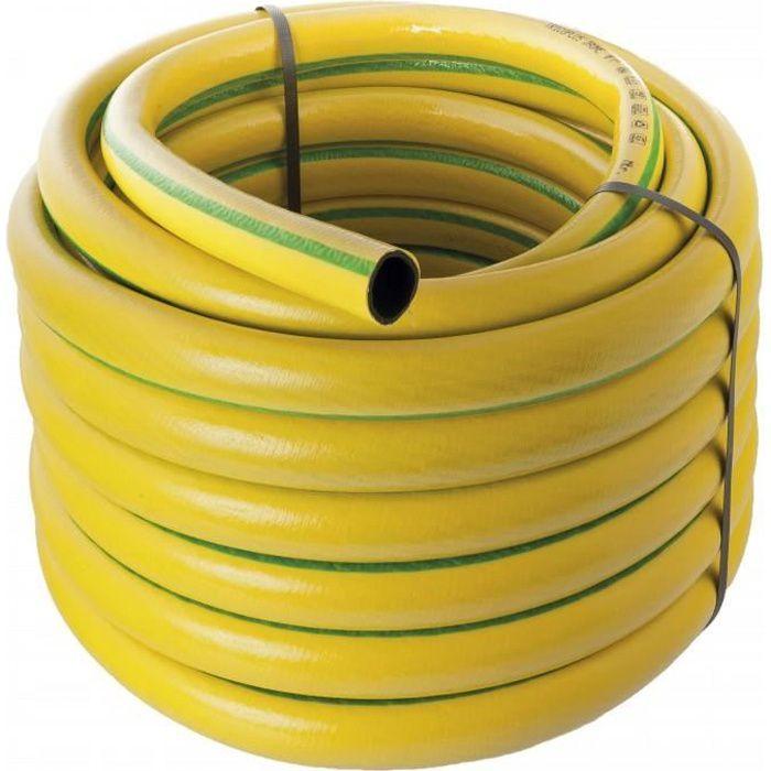 50 m Tuyau d'arrosage antivrille renforce Werkapro 150 g/m. Ce tuyau d'arrosage a la caracteristique d'etre antivrille
