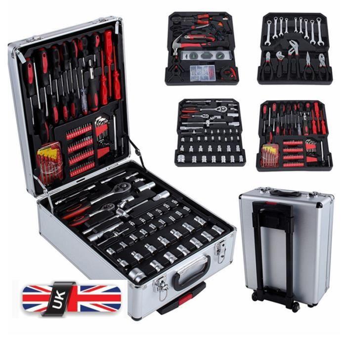Nouveau Mallette à outils Trolley, Boite à Outils, Valise à outils, 399 PCS - Belle tech