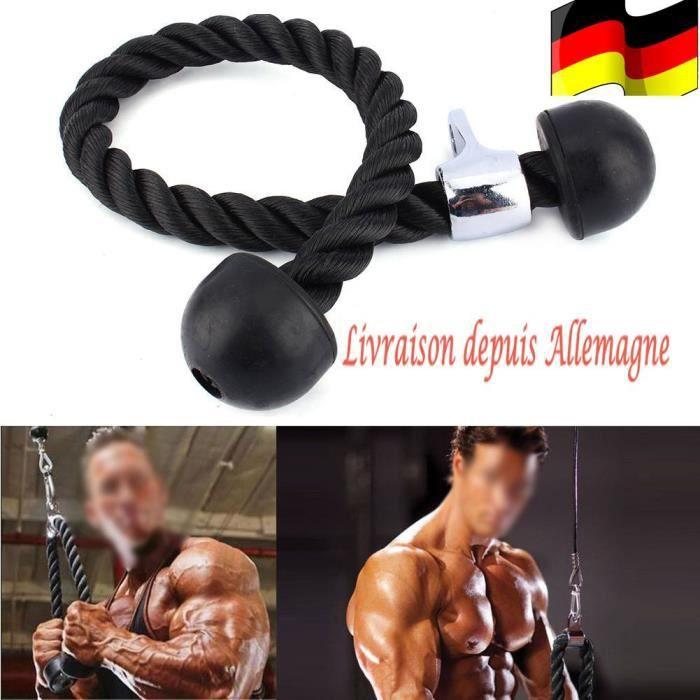 Corde à triceps Corde Cordon Entraînement Tirage Musculation Biceps Triceps Gym Fitness