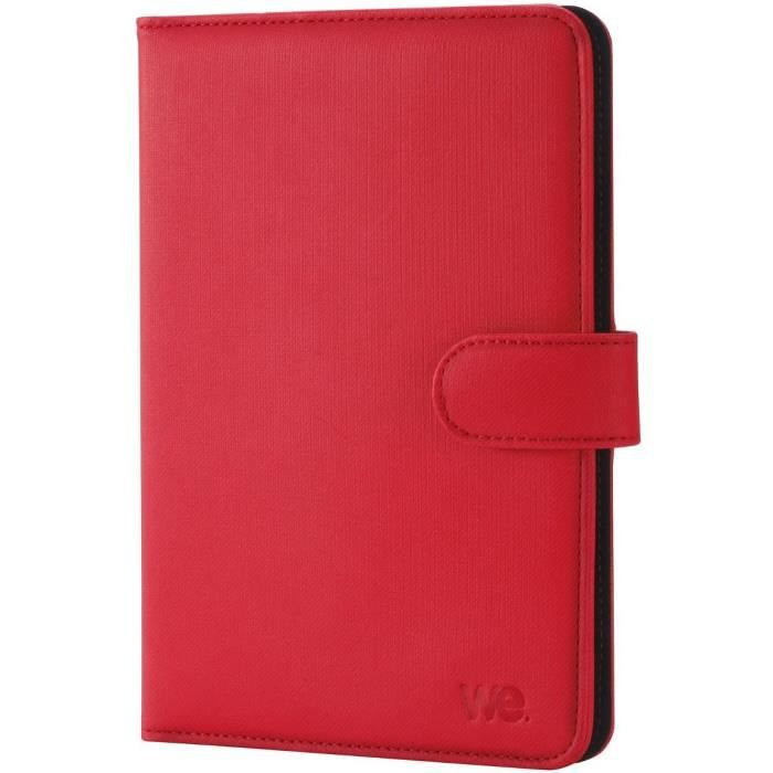 WE H-720 Housse De Protection Universelle 7'', Attaches En Silicone Ajustables - Rouge