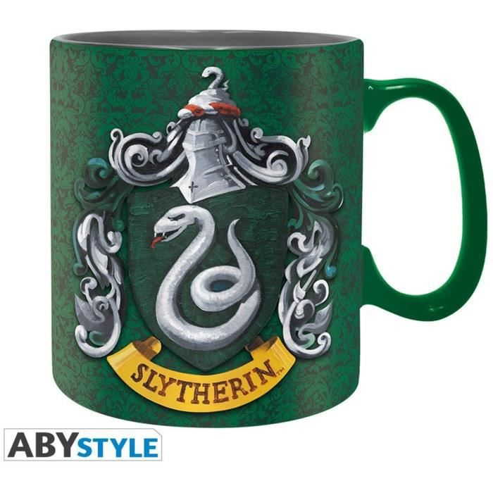 Pack Mug + Porte-clés + Badges Harry Potter - Serpentard - ABYstyle