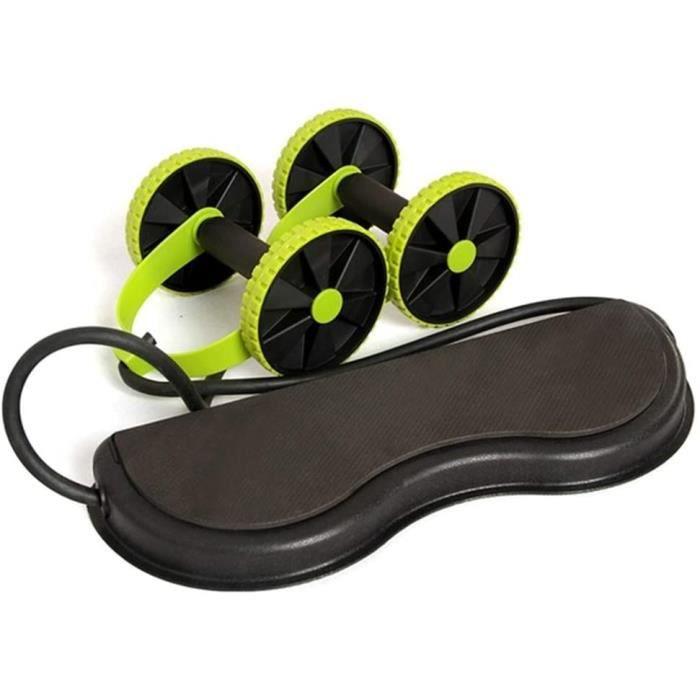 TOBARO Rollers abdominaux sport maison pour ventre plat bras dos ferme avec corde et antidérapant