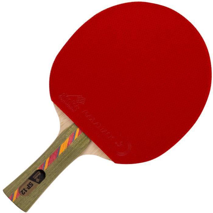Raquette de tennis de table professionnelle par Donier - SP-12 PRO - Raquette de ping-pong de fabrication européenne - Base à 5 c
