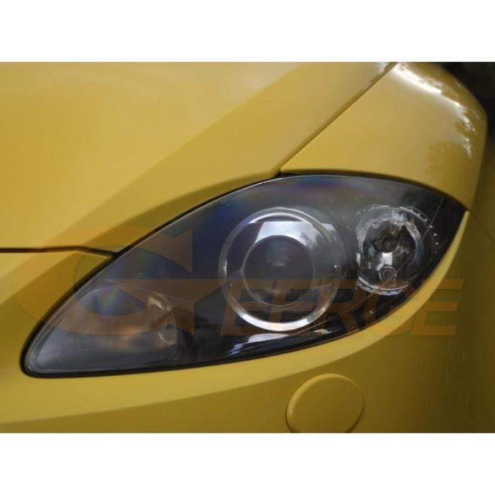For Xenon headlights -Kit d'anneaux halo Ultra lumineux pour Seat leon Mk2, 1P, 2005 2006 2007 2008 2009 2010 2011 2012, Excellen