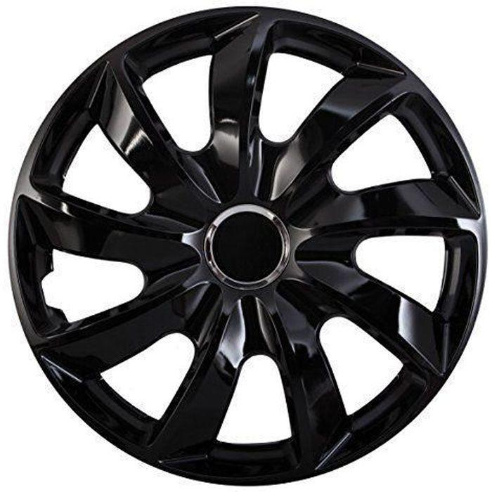 Enjoliveurs de roues STIG noir 16- lot de 4 pièces