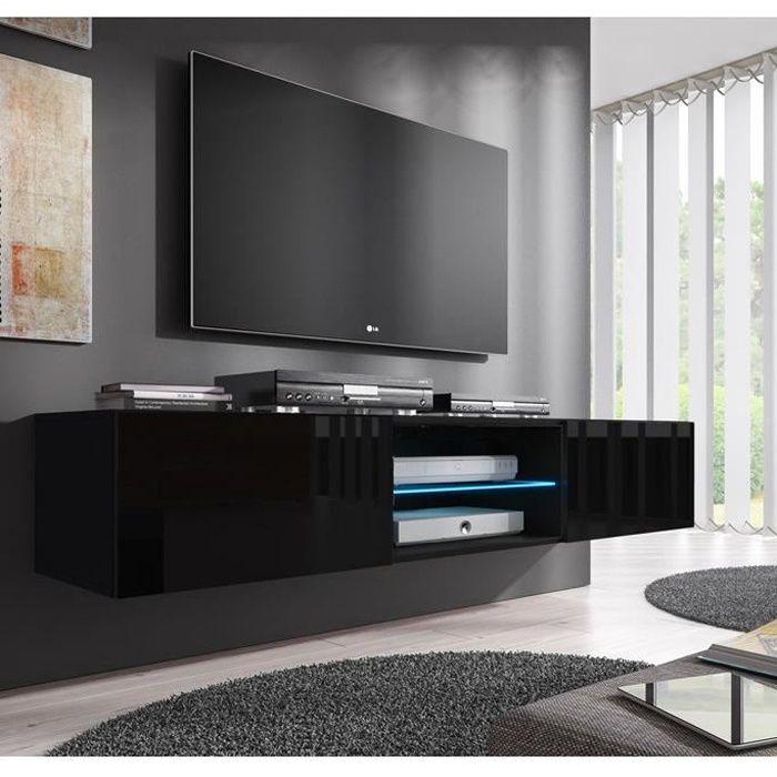 Meuble TV Tibi (160 cm) noir