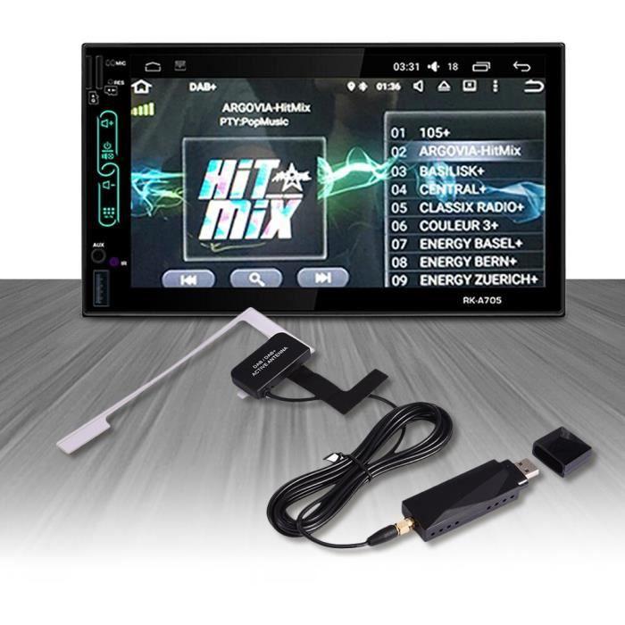 Autoradio universel, pour Android 4.4 5.1 6.0 7.1, adaptateur USB DAB + antenne d'extension, récepteur pour Europe a*YI2908