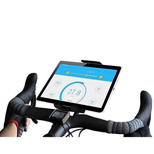 Support tablette velo d'Appartement compatible avec iPad Universel valable pour toutes les tailles de guidons Dossier d'Intérieur