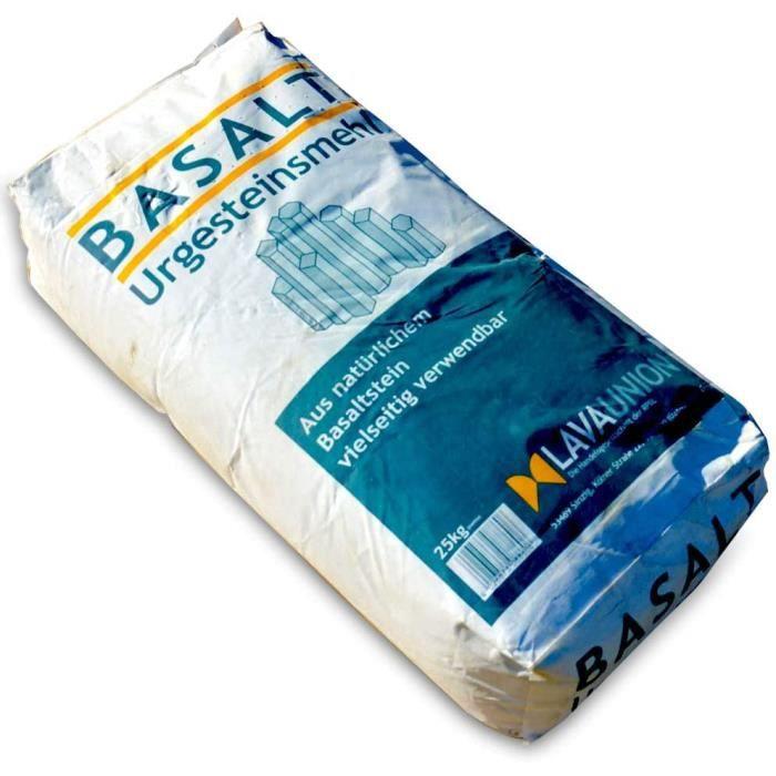Engrais spécialisés Poudre de Lave basaltique Ultra Fine pour Le Jardin UAB. Sac de 25 kg,519