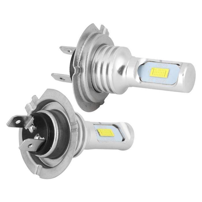 ZJCHAO Feu de brouillard de voiture 2Pcs 80W 6000K H7 LED Feux de Brouillard de Voiture Lampe Blanc Universel 12-24V